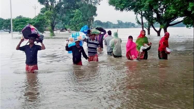 Emergency flood relief funds in Seemanchal, Bihar, North East India